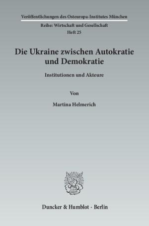 Cover Veröffentlichungen des Osteuropa-Institutes, München. Reihe: Wirtschaft und Gesellschaft (OIM)