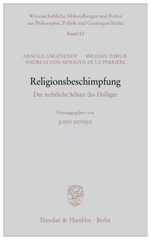Cover Religionsbeschimpfung