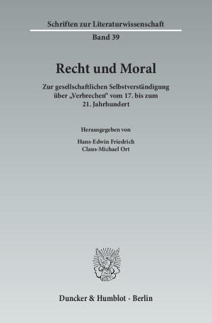 Cover Recht und Moral