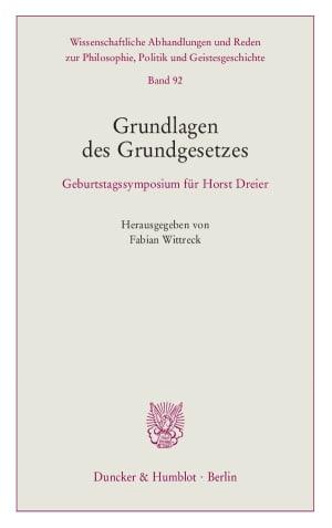 Cover Wissenschaftliche Abhandlungen und Reden zur Philosophie, Politik und Geistesgeschichte (PPG)