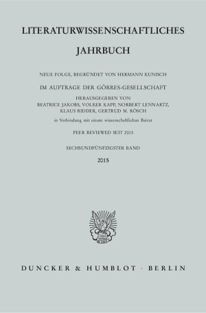 Cover Literaturwissenschaftliches Jahrbuch