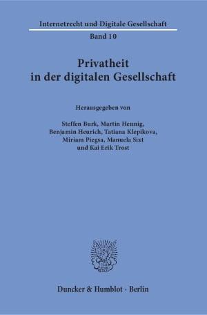 Cover Privatheit in der digitalen Gesellschaft
