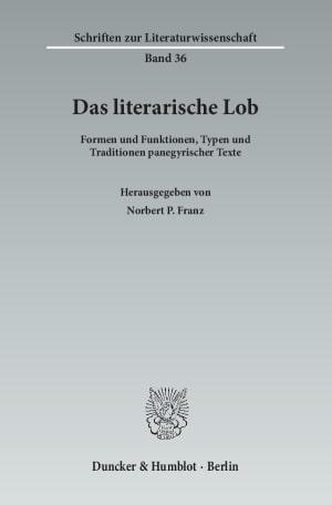 Cover Das literarische Lob