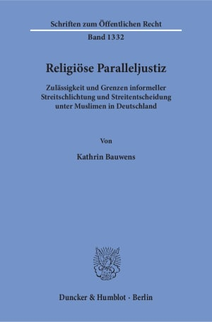 Cover Religiöse Paralleljustiz