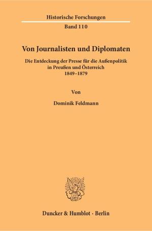 Cover Von Journalisten und Diplomaten