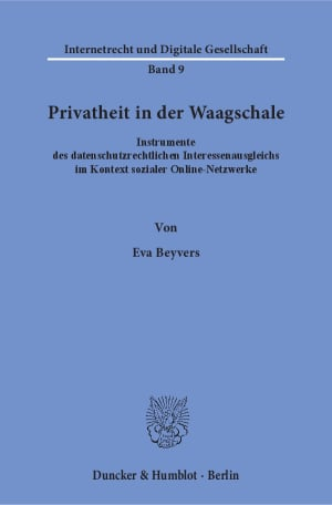 Cover Privatheit in der Waagschale