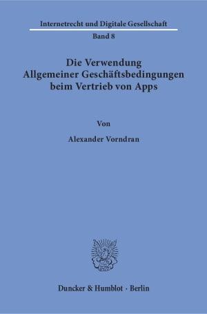 Cover Die Verwendung Allgemeiner Geschäftsbedingungen beim Vertrieb von Apps