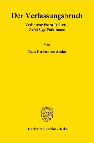 Cover Der Verfassungsbruch