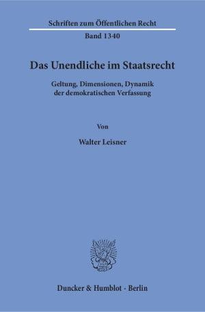 Cover Das Unendliche im Staatsrecht