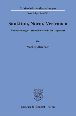 Cover Sanktion, Norm, Vertrauen
