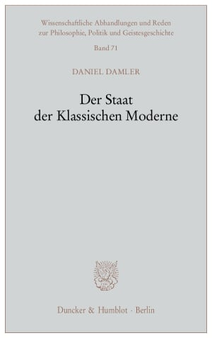 Cover Der Staat der Klassischen Moderne