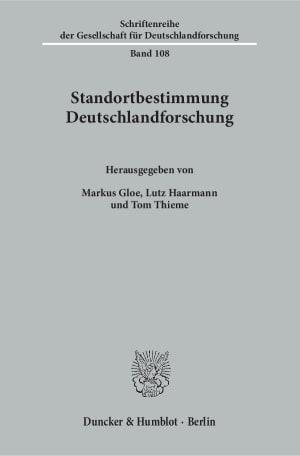 Cover Schriftenreihe der Gesellschaft für Deutschlandforschung (GDF)