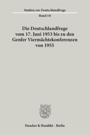 Cover Studien zur Deutschlandfrage (SDF)