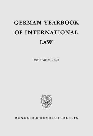 Cover German Yearbook of International Law / Jahrbuch für Internationales Recht