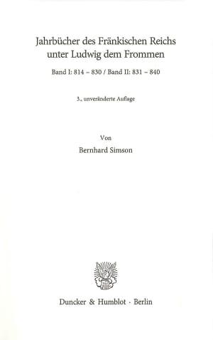 Cover Jahrbücher der Deutschen Geschichte (JB DG)