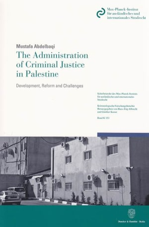 Cover The Administration of Criminal Justice in Palestine