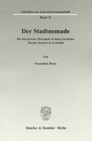 Cover Der Stadtnomade