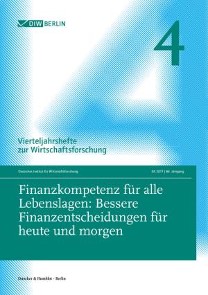 Cover Finanzkompetenz für alle Lebenslagen: Bessere Finanzentscheidungen für heute und morgen (VJH 4/2017 )