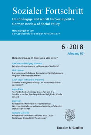 Cover Ökonomisierung und Konfession: Was bleibt? (SF 6/2018 )
