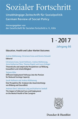 Cover Education, Health and Labor Market Outcomes (SF 1/2017)