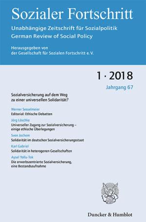 Cover Sozialversicherung auf dem Weg zu einer universellen Solidarität? (SF 1/2018 )