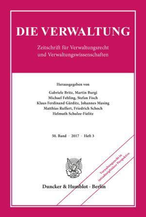 Cover Verwaltungsrecht in intradisziplinärer Perspektive (VERW 3/2017)