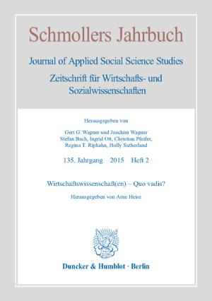 Cover Wirtschaftswissenschaft(en) – Quo vadis? (JCE 2/2015 )
