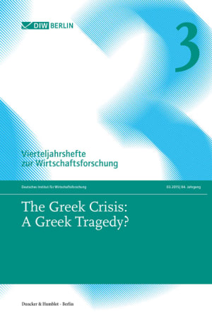 Cover The Greek Crisis: A Greek Tragedy? (VJH 3/2015 )