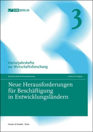 Cover Neue Herausforderungen für Beschäftigung in Entwicklungsländern (VJH 3/2012 )