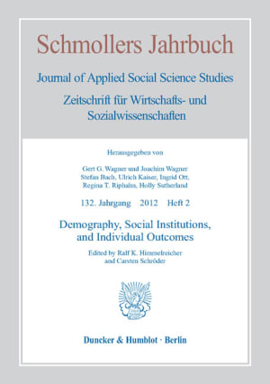 Cover Demography, Social Institutions, and Individual Outcomes (JCE 2/2012)