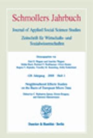 Cover Neighbourhood Effects Studies on the Basis of European Micro Data (JCE 1/2008 )