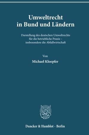 Cover Umweltrecht in Bund und Ländern