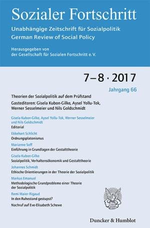 Cover Theorien der Sozialpolitik auf dem Prüfstand (SF 7–8/2017 )
