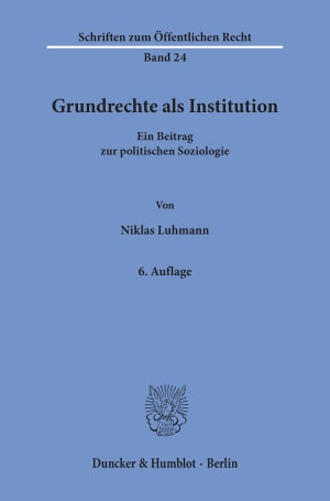 Cover Grundrechte als Institution