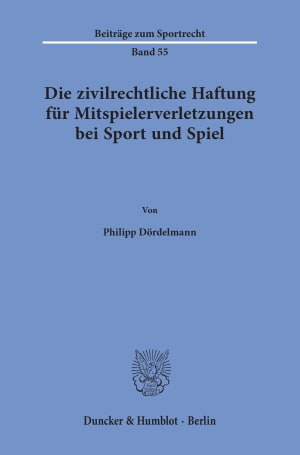 Cover Beiträge zum Sportrecht (BSR)