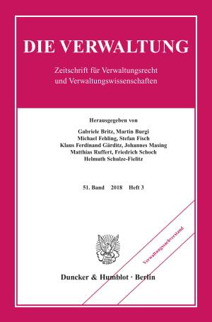 Cover Verwaltungssachverstand (VERW 3/2018)