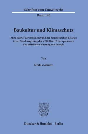 Cover Schriften zum Umweltrecht (SUR)