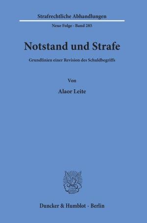Cover Notstand und Strafe