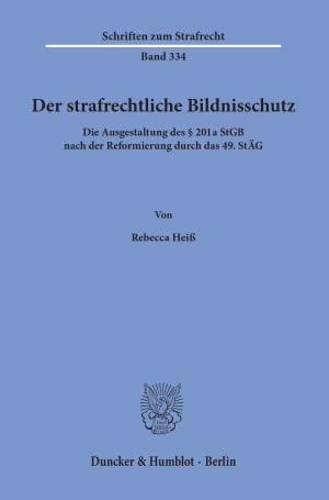 Cover Der strafrechtliche Bildnisschutz