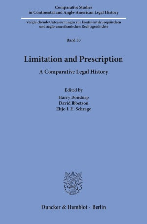 Cover Comparative Studies in Continental and Anglo-American Legal History (CSC)