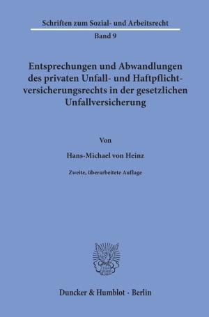 Cover Schriften zum Sozial- und Arbeitsrecht (SAR)