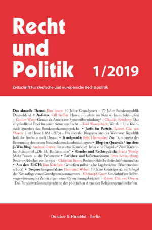 Cover RuP 1/2019