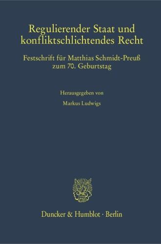 Cover Regulierender Staat und konfliktschlichtendes Recht