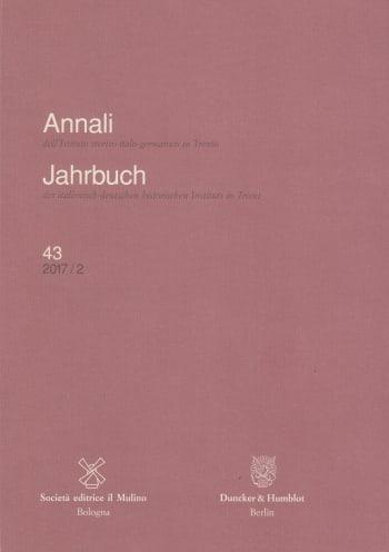 Cover: Annali dell'Istituto storico italo-germanico in Trento / Jahrbuch des italienisch-deutschen historischen Instituts in Trient (HIST JB)
