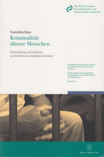 Cover: Kriminalität älterer Menschen