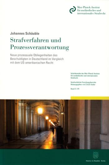 Cover: Strafverfahren und Prozessverantwortung