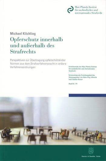 Cover: Opferschutz innerhalb und außerhalb des Strafrechts