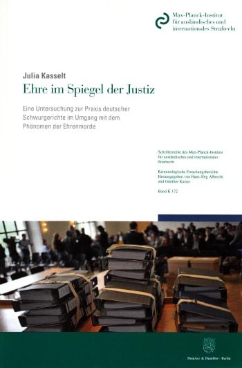 Cover: Ehre im Spiegel der Justiz