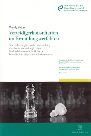 Cover: Verteidigerkonsultation im Ermittlungsverfahren