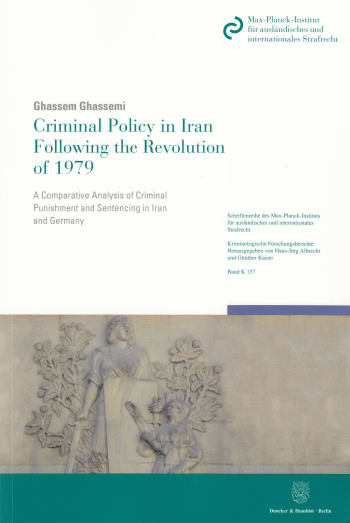 Cover: Criminal Policy in Iran Following the Revolution of 1979